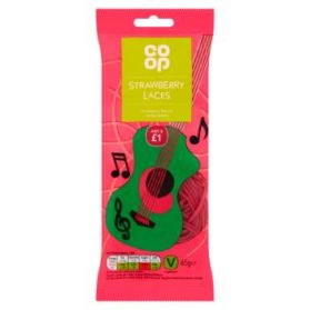 Co-op Strawberry Laces 65g