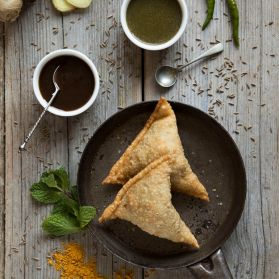 Potato Samosas - What's a curry without a samosa on the side?