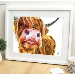 Highland Cow - Nosy Cow Print