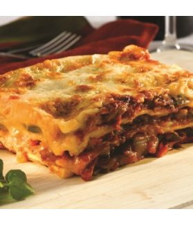 Vegetarian lasagna - made using the finest ingredients and generous helpings of pasta and sauce!