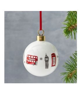 London Skyline Christmas Bauble