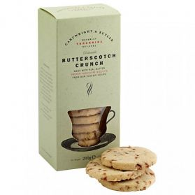 Butterscotch Crunch - These delectable biscuits are loaded with chunks of special sweet butterscotch in a rich unique shortbread biscuit base. Made in Yorkshire with real butter from a truly traditional classic recipe.