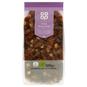 Co Op Dried Mixed Fruit 500g