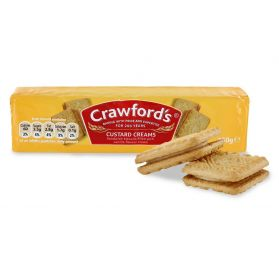 Custard Creams - Voted in past surveys as the nation's favourite biscuit, Crawfords Custard Creams' popularity remains undiminished by time.