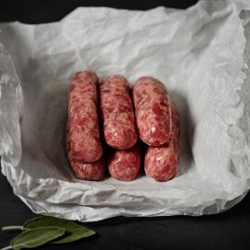 Cumberland Sausages - our Cumberland sausages are a low fat sausage made with all natural casing, traditional British butchers rusk, and imported seasonings.
