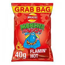 Monster Munch Flamin' Hot - When you're in the mood for a mega snack, then Mega Monster Munch Flamin' Hot are a great choice.