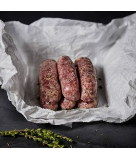 Lincolnshire Sausages - A mild, sage and thyme spiced sausage that makes for a great all rounder.