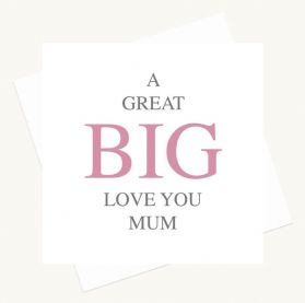 Surprise Mum with this delightful made in the UK card!