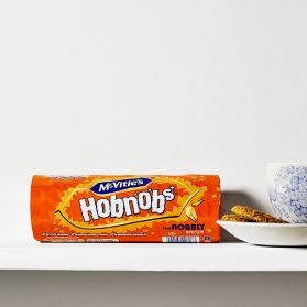 Hob Nob's - Oaty, crunchy, and delicious.