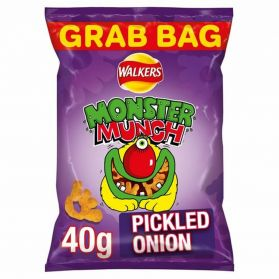 Walkers Pickled Onion Monster Munch, pickled onion crisps, pickled onion feet shaped crisps