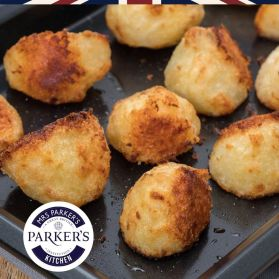 Parker's finest roast potatoes using the finest potatoes imported from the UK