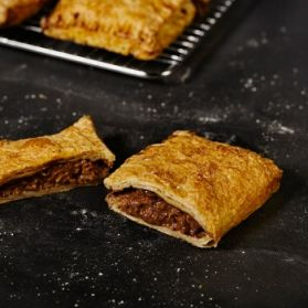 Steak Bake -All natural steak and gravy in our own puff pastry shell.