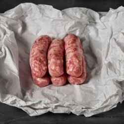 Steak & Stout sausages hand made using the finest ingredients and special imported seasoning from the UK!