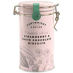 Strawberry & White Choc Biscuits - Cartwright & Butler