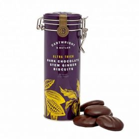 Ultra Thick Dark Chocolate Ginger Biscuits - Cartwright & Butler