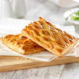Vegetable Lattice Slice - A puff pastry lattice topped slice with a creamy vegetable filling.