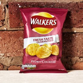 Walker's Prawn Cocktail Crisps - A light and tangy flavour that keeps you reaching for another bag.