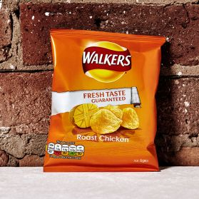 Roast Chicken Crisps by Walker's - An unbeatable indulgent snack that evokes the taste of a traditional Sunday roast.