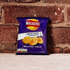 Worcester Sauce Crisps - The perfect crisp for those who enjoy their savoury snacks with a kick.